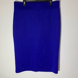 Eloquii pencil bodycon skirt blue size 18